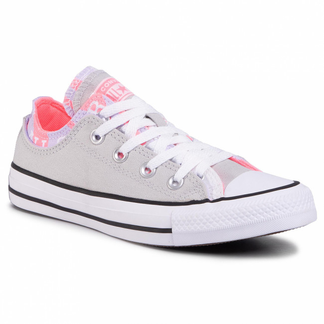 Tramky CONVERSE - Ctas Double Upper Ox 567746C  Mouse/Multi/White
