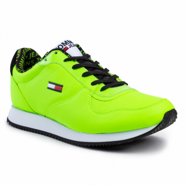 Sneakersy TOMMY JEANS - Casual Tommy Jeans Sneaker EM0EM00372 Green Gecko LAC