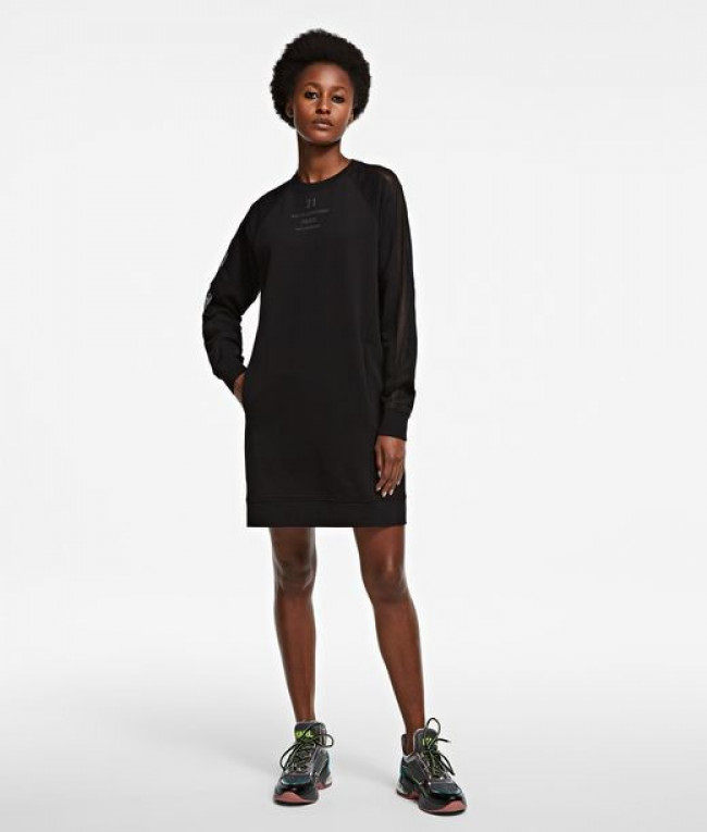 Šaty Karl Lagerfeld Sweat Dress W/ Mesh