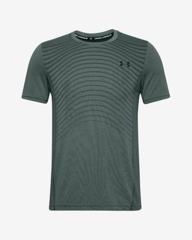 Under Armour Seamless Tričko Zelená Šedá