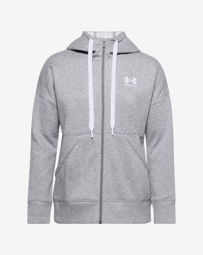 Under Armour Rival Fleece Full Zip Mikina Šedá