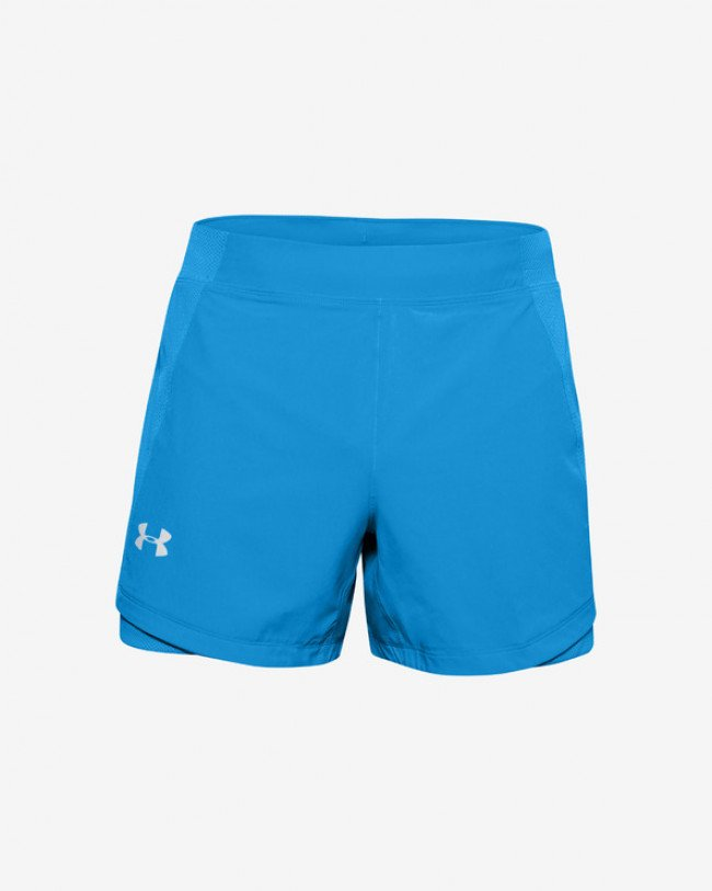 Under Armour Qualifier Speedpocket 5'' Kraťasy Modrá