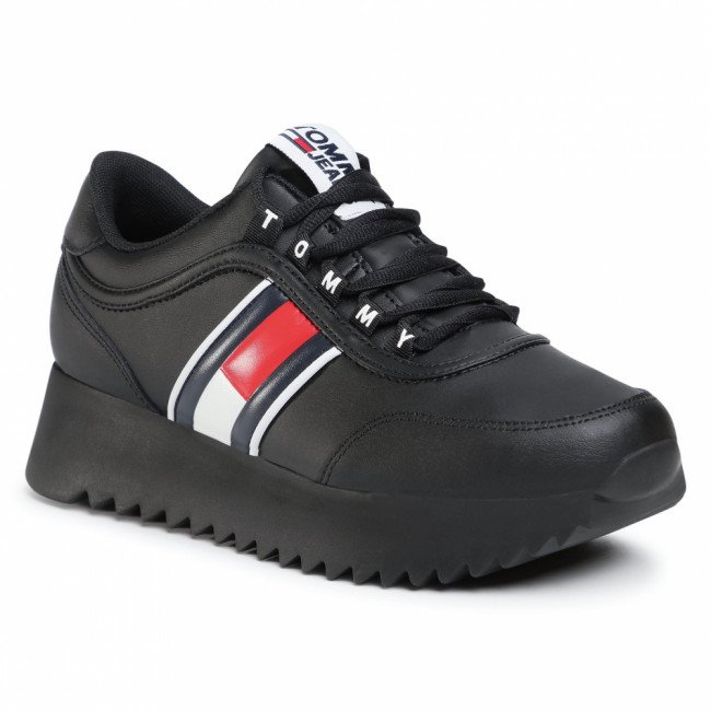 Sneakersy TOMMY JEANS - High Cleated Tommy Jeans Sneaker EN0EN00948 Black BDS