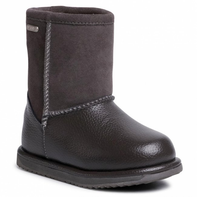 Topánky EMU AUSTRALIA - Trigg K12169 Charcoal/Charcoal/Anthracite/Anthracite