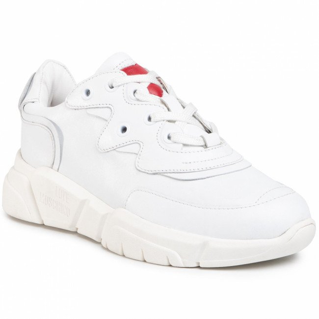 Sneakersy LOVE MOSCHINO - JA15153G1BIA0100 Bianco
