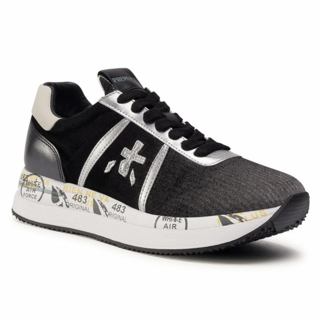 Sneakersy PREMIATA - Conny 4102 Black/Grey Reflective