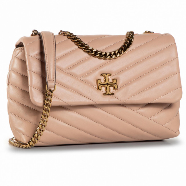 Kabelka TORY BURCH - Kira Chevron Small 64963 Devon Sand 288