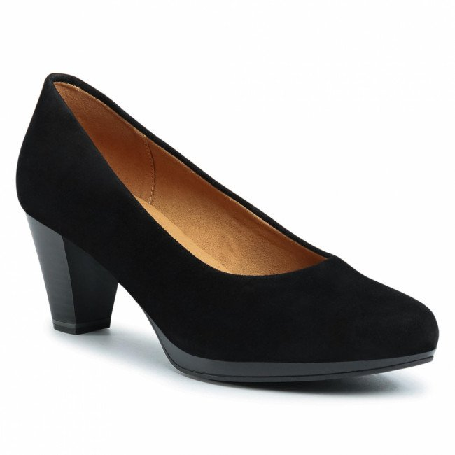 Poltopánky CAPRICE - 9-22409-25 Black Suede 004