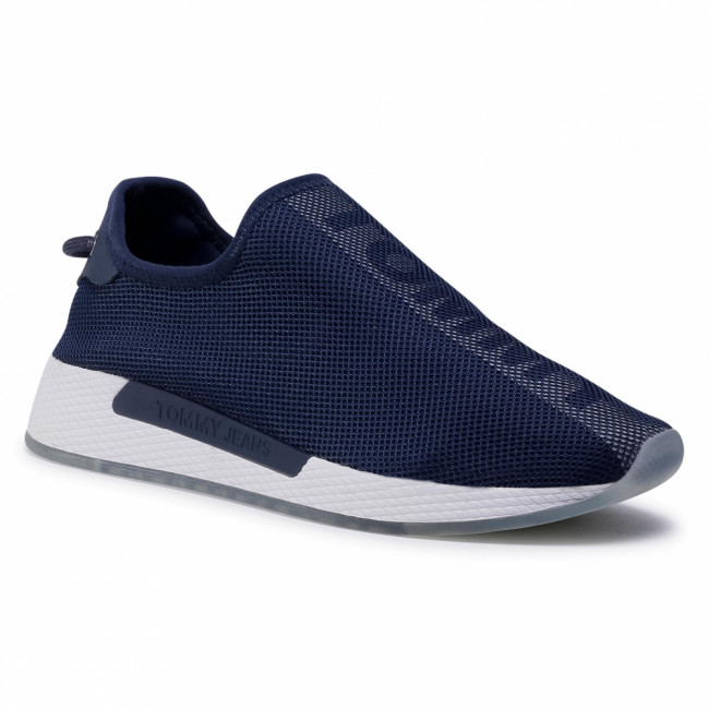 Sneakersy TOMMY JEANS - Technical Mesh Flexi Sneaker EN0EN00983 Twilight Navy C87