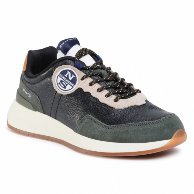 Sneakersy NORTH SAILS - RW/02 Leather -020 Black