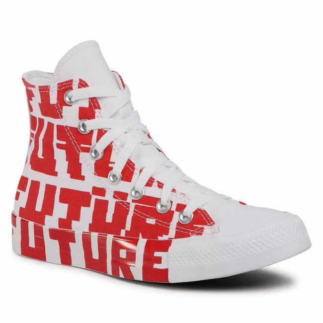 Tramky CONVERSE - Ctas Hi 168554C University Red/White/White