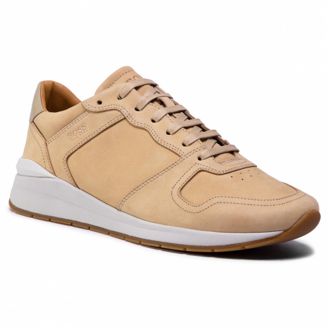 Sneakersy BOSS - Element 50432832 10227353 01 Beige/Khaki 250