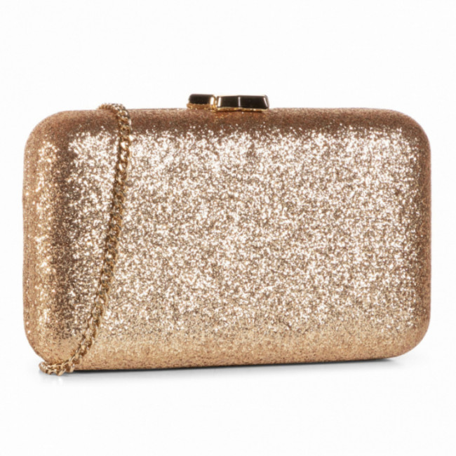 Kabelka LIU JO - Clutch IF0121 E0669 Light Gold 90048