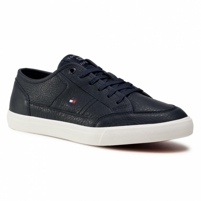 Sneakersy TOMMY HILFIGER - Core Corporate Leather Vulc FM0FM02980 Desert Sky DW5