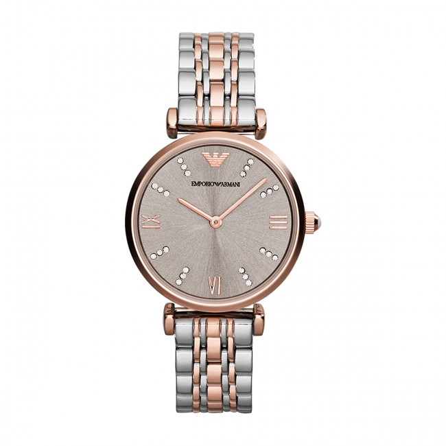 Hodinky EMPORIO ARMANI - Gianni T-Bar AR1840  Silver/Rose Gold