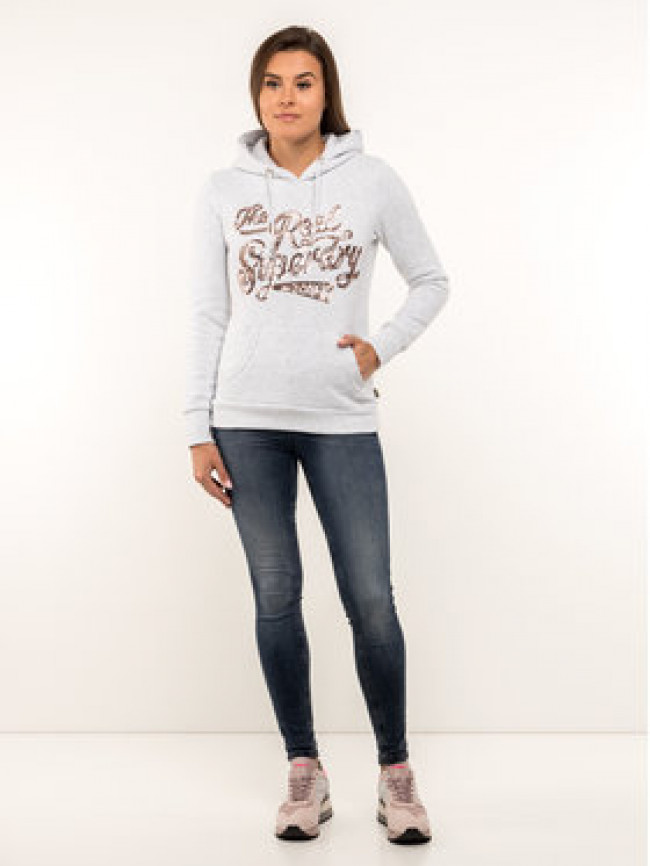 Superdry Mikina W2000047B Sivá Regular Fit