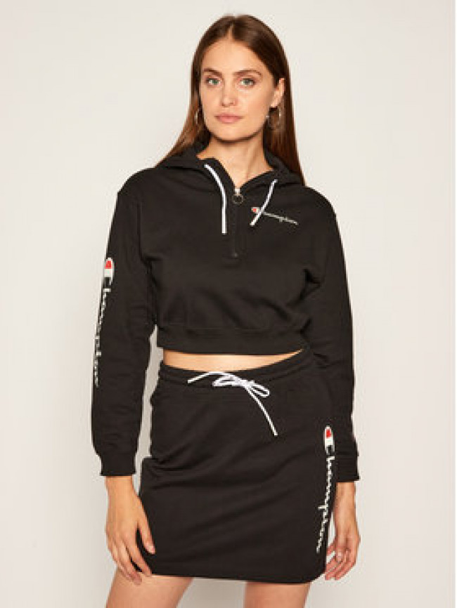 Champion Mikina Half Zip-Up Script Logo 112641 Čierna Custom Fit
