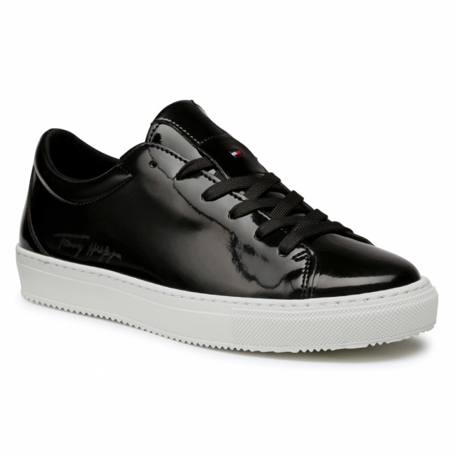 Sneakersy TOMMY HILFIGER - Zero Waste Patent Cupsole FW0FW05319 Black BDS