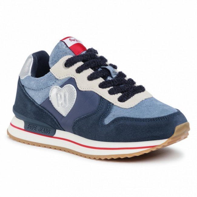 Sneakersy PEPE JEANS - Rusper Junior Shiny PGS30463 Navy 595