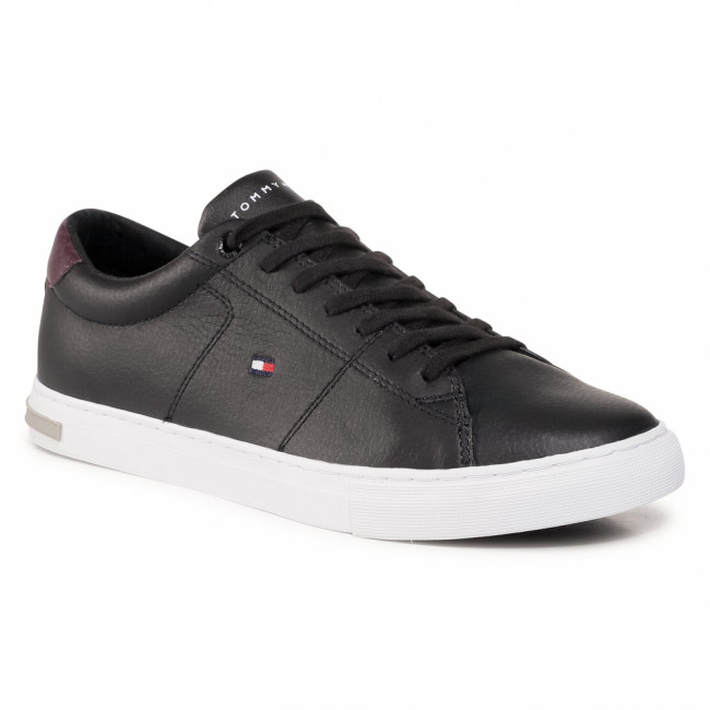 Sneakersy TOMMY HILFIGER - Essential Leather Detail Vulc FM0FM02977 Black BDS