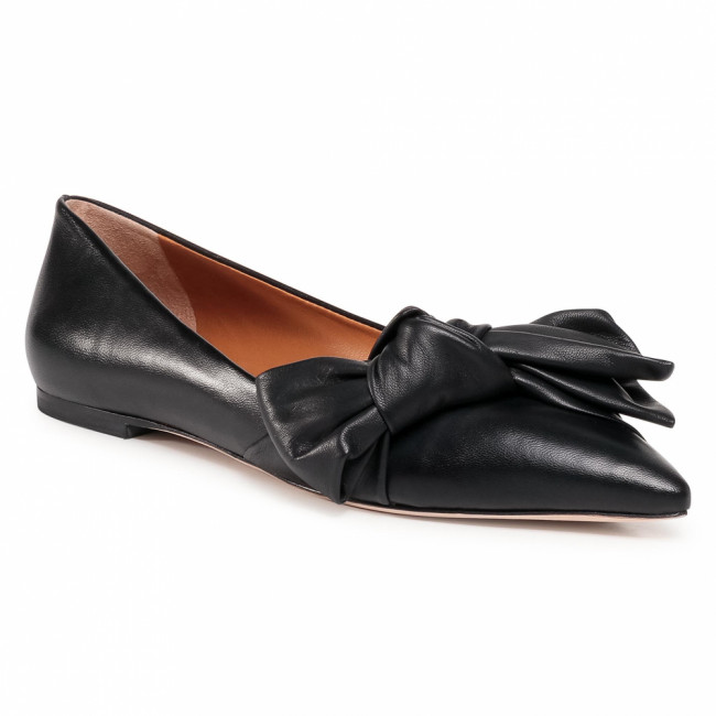 Poltopánky TORY BURCH - 5Mm Bow Flat 76710 Perfect Black 006