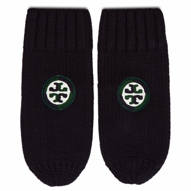 Rukavice Dámske TORY BURCH - Color-Block Logo Mittens 76490 Navy 405