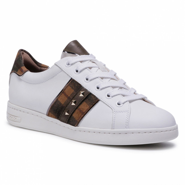 Sneakersy GEOX - D Jaysen C D041BC 085BS C0167 White/Camel