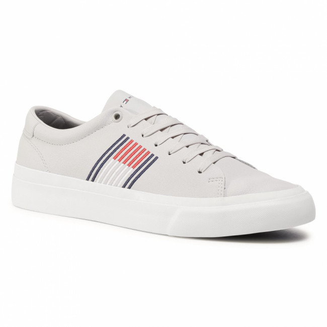 Sneakersy TOMMY HILFIGER - Corporate Leather Sneaker FM0FM02853 Grey Whisper PQU