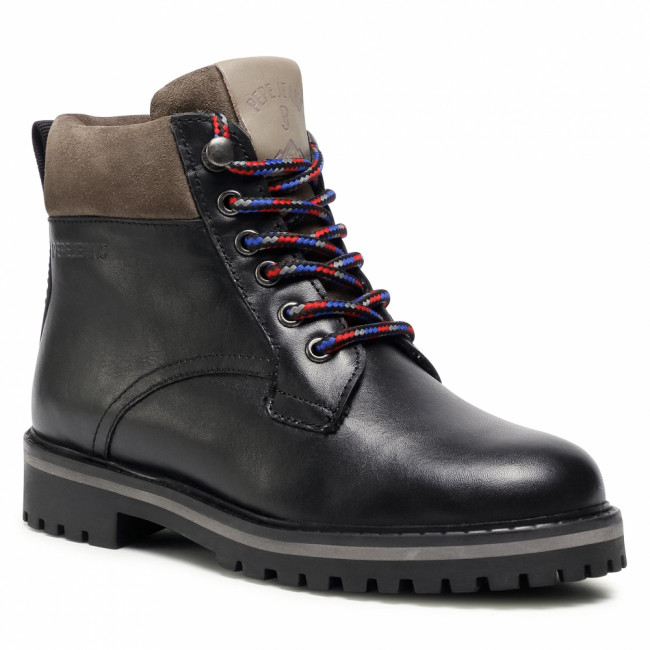 Outdoorová obuv PEPE JEANS - Nick Bootie Leather PBS50088  Black 999