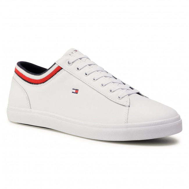 Sneakersy TOMMY HILFIGER - Essetial Leather Vulc FM0FM02978 White YBR
