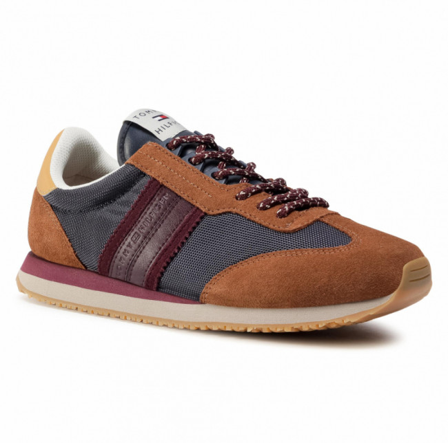 Sneakersy TOMMY HILFIGER - Lo Mix Winter Runner Stripes FM0FM03004 Desert Sky DW5
