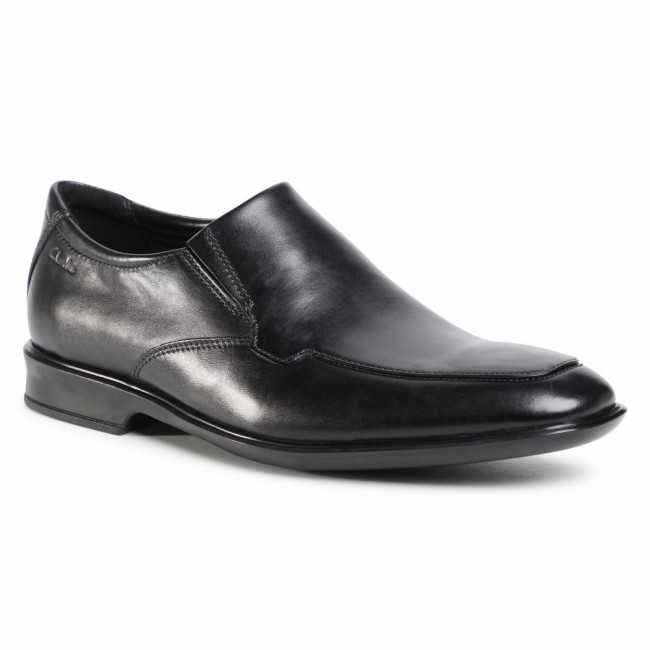 Poltopánky CLARKS - Bensley Step 261476867  Black Leather
