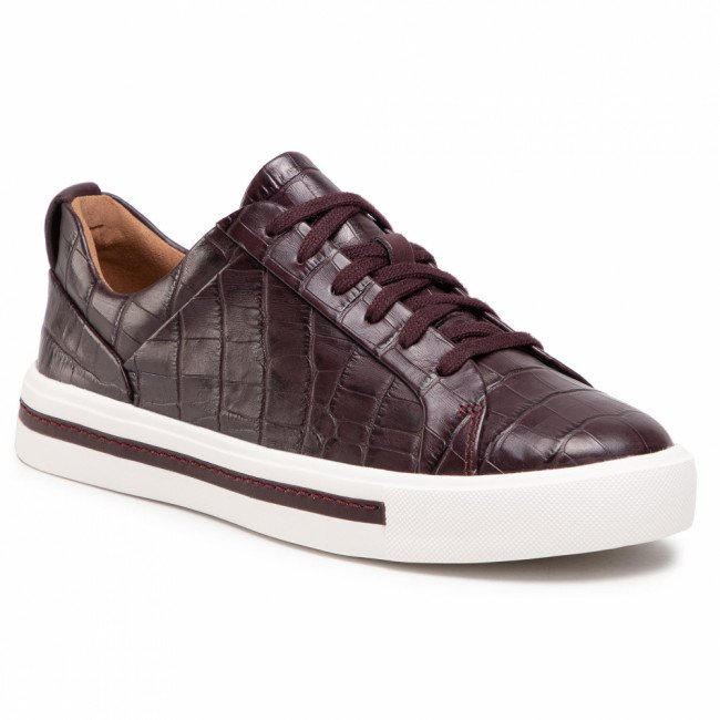 Sneakersy CLARKS - Un Maui Lace 261517614  Burgundy Leather