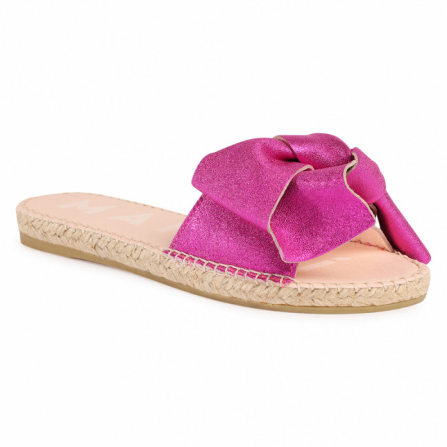 Espadrilky MANEBI - Sandals With Bow O 1.3 J0 Metallic Fuxia