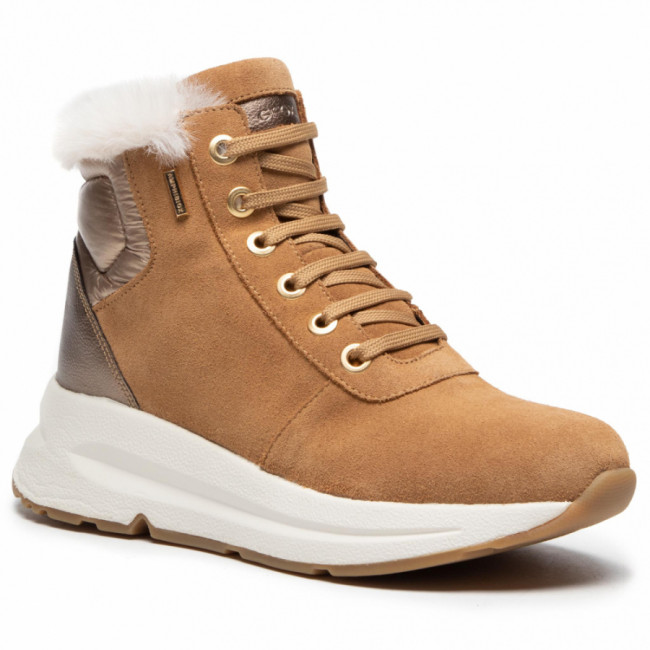 Sneakersy GEOX - D Backsie B Abx A D04FPA 022BC C5F9H Camel/Lead