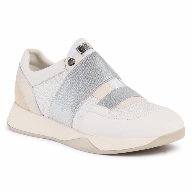 Sneakersy GEOX - D Suzzie D D94FRD 01485 C1327 White/Lt Gold