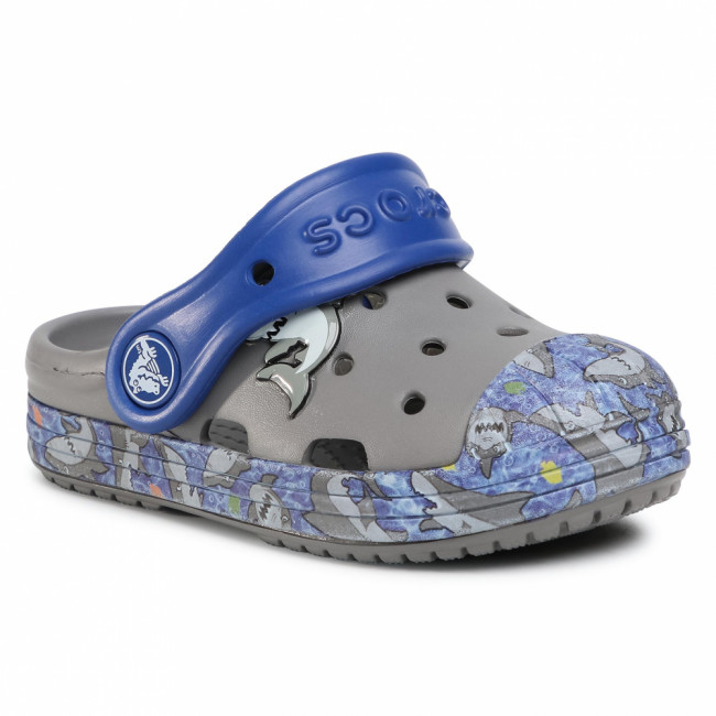 Šľapky CROCS - Bump It Graphic Clog K 204126  Smoke/Black