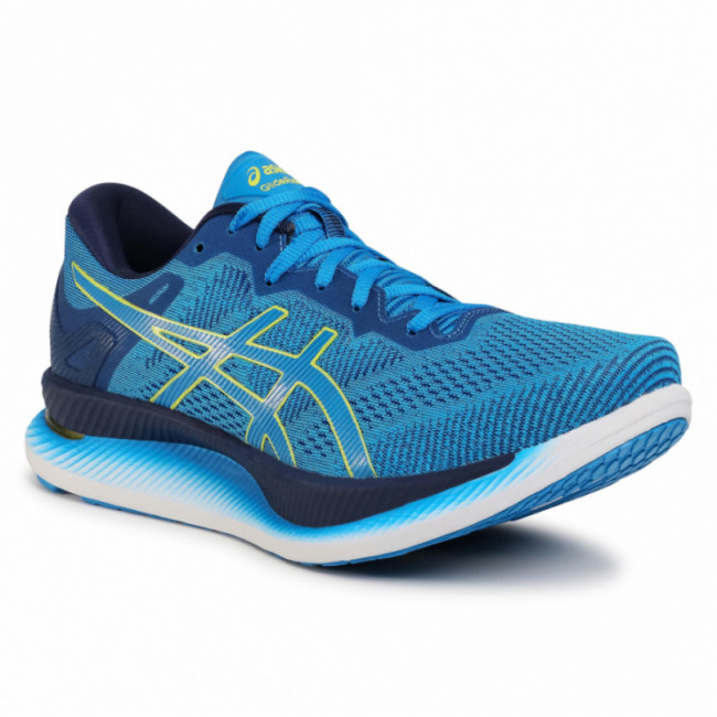 Topánky ASICS - GlideRide 1011A817 Directoire Blue/Lime Zest 401
