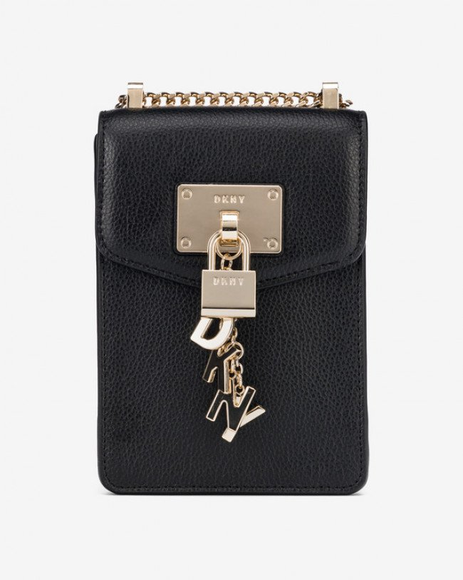 DKNY Elissa North South Cross body bag Čierna