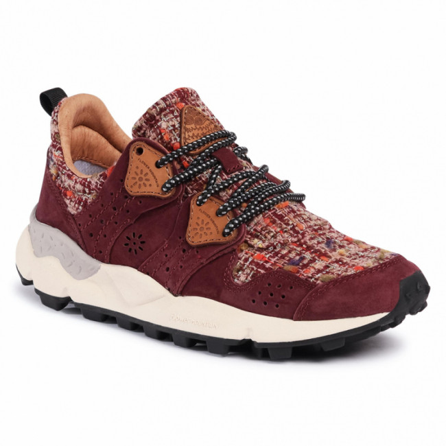 Sneakersy FLOWER MOUNTAIN - Corax 0012015284.05.1H38 Bordeaux/Pink