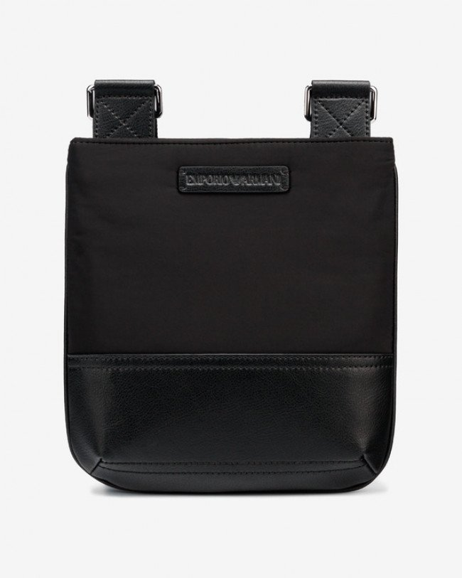 Emporio Armani Flat Messenger Cross body bag Čierna