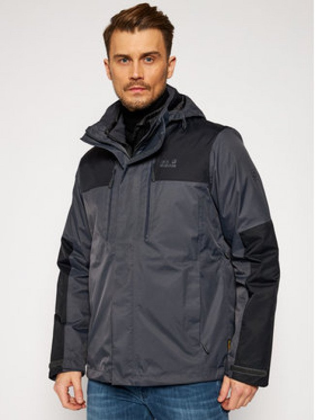 Jack Wolfskin Multifunkčná bunda Jasper 1108392 Sivá Regular Fit