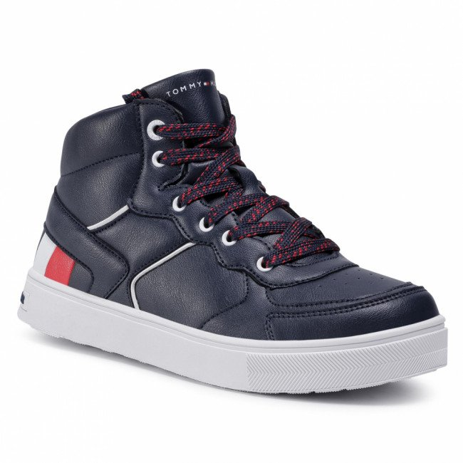 Sneakersy TOMMY HILFIGER - High Top Lace-Up Sneaker T3B4-30926-1030800 S Blue 800