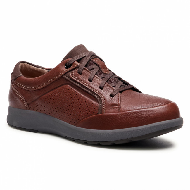 Poltopánky CLARKS - Un Trail Form2 261550987  Mahogany Leather