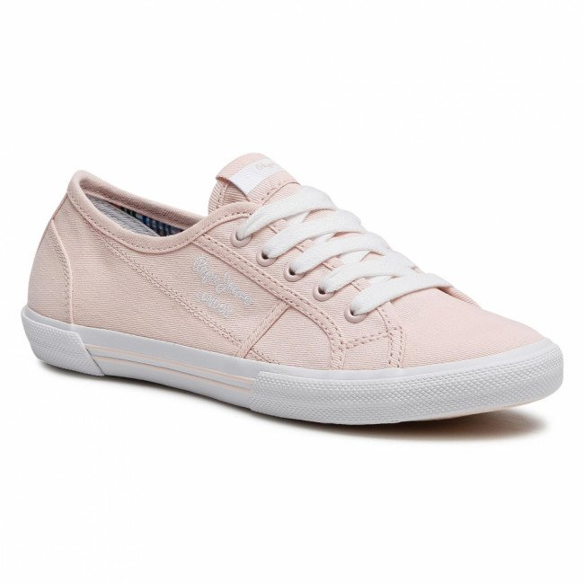 Tenisky PEPE JEANS - Aberlady Ecobass PLS31193 Powder Rose 318