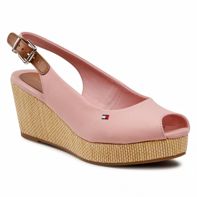 Espadrilky TOMMY HILFIGER - Iconic Elba Sling Back Wedge FW0FW04788 Soothing Pink TQS