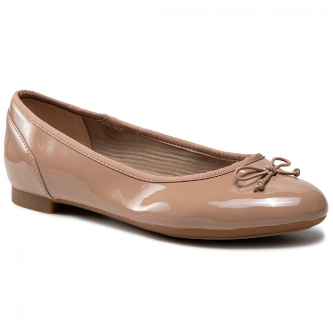 Baleríny CLARKS - Couture Bloom 261339925 Nude Patent