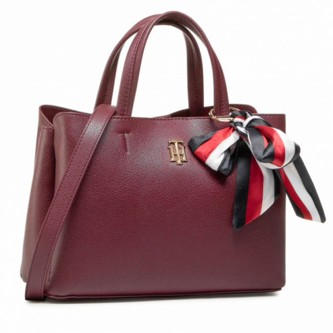 Kabelka TOMMY HILFIGER - Charming Tommy Med Satchel AW0AW08792 PUR