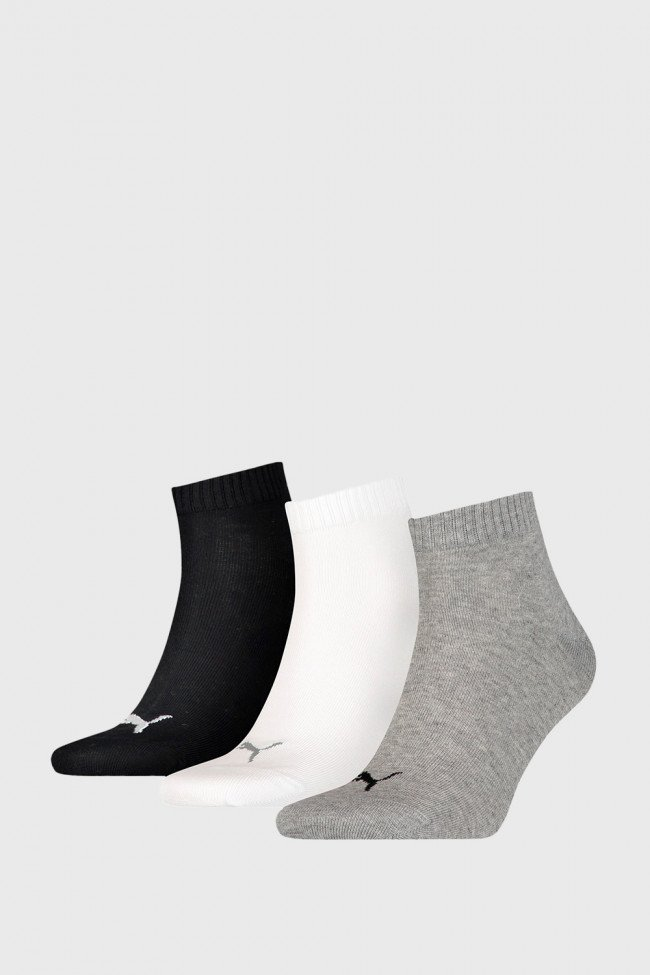 3 PACK ponožiek Puma Quarter Plain