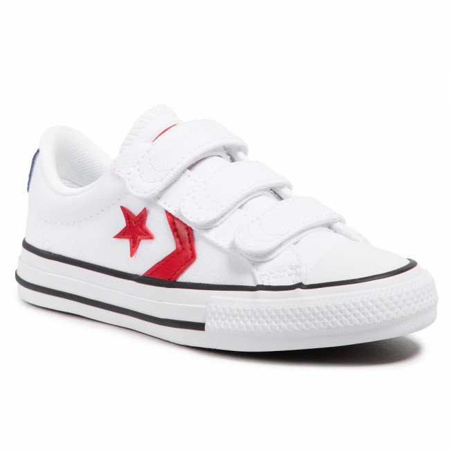 Tramky CONVERSE - Star Player 3v Ox 670227C  White/University Red/Blue